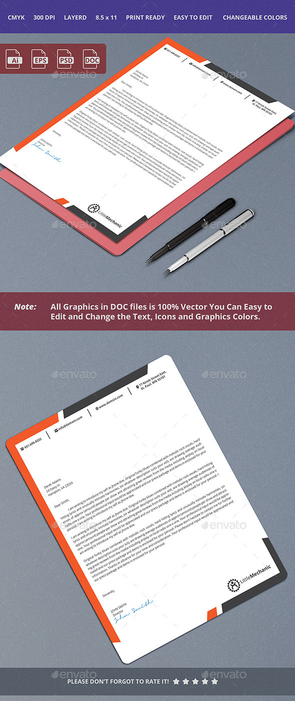 GraphicRiver Corporate Letterhead Design 10413995