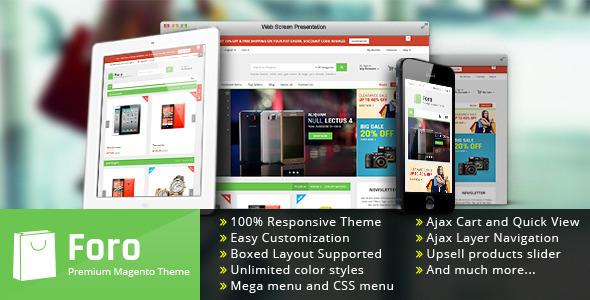 ThemeForest Foro Premium Responsive Magento Theme 10414034