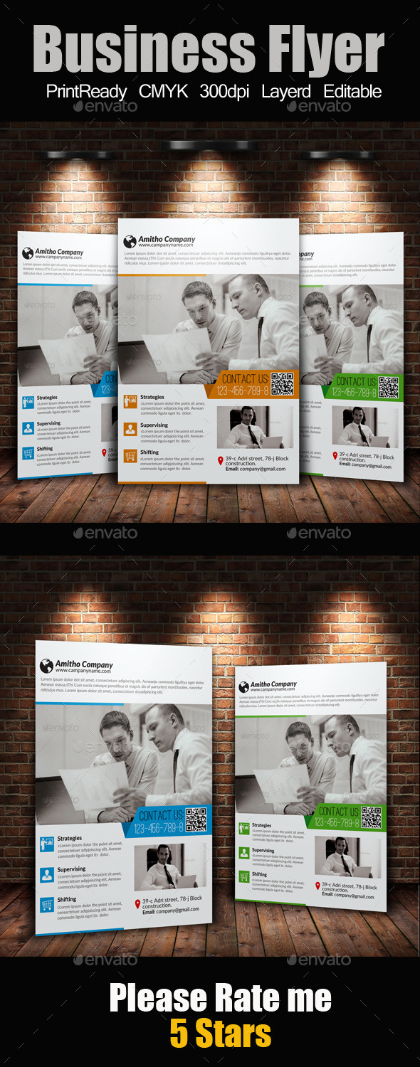 GraphicRiver A4 Business Flyer 10414041
