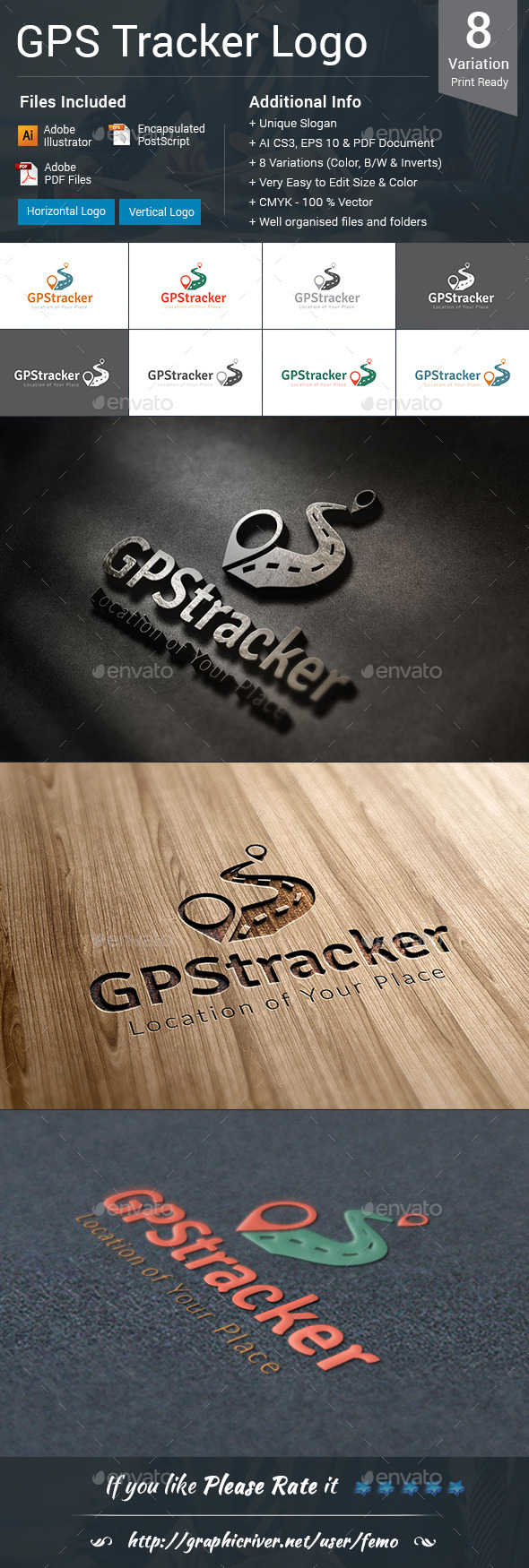 GraphicRiver GPS Tracker Logo 10414055