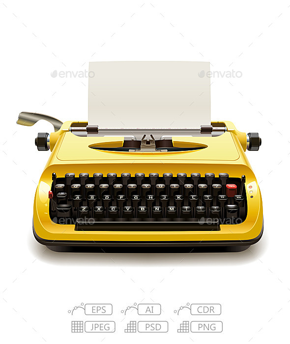 GraphicRiver Old Typewriter 10414060