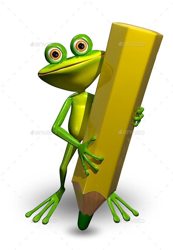 GraphicRiver Frog and Pencil 10414107