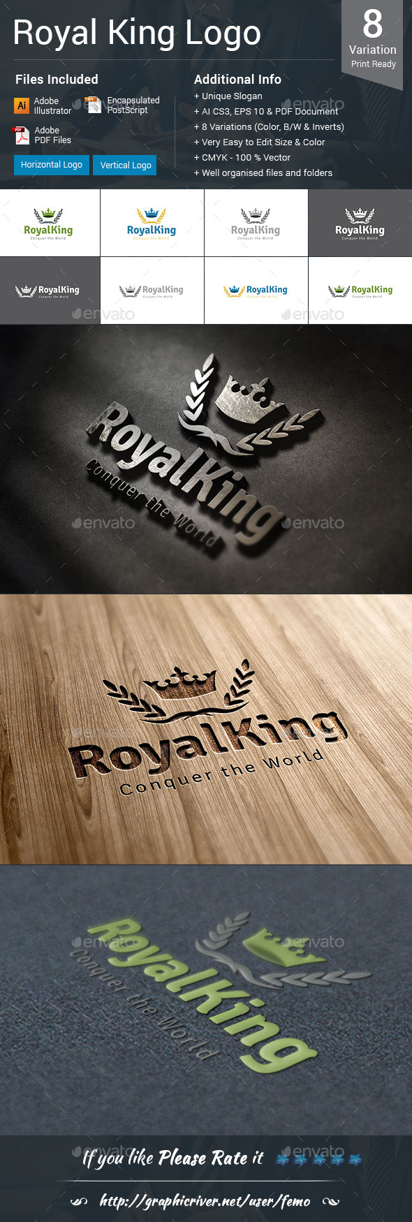 GraphicRiver Royal King Logo 10414126