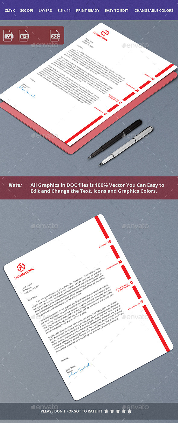 GraphicRiver Simple Letterhead Design 10414129