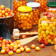 Preserving Mirabelle plums - jars of homemade fruit preserves – Mirabelle prune - PhotoDune Item for Sale