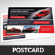 Rent A Car Business Postcard Template - GraphicRiver Item for Sale