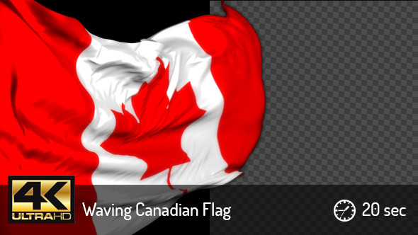 Realistic Waving Canadian Flag