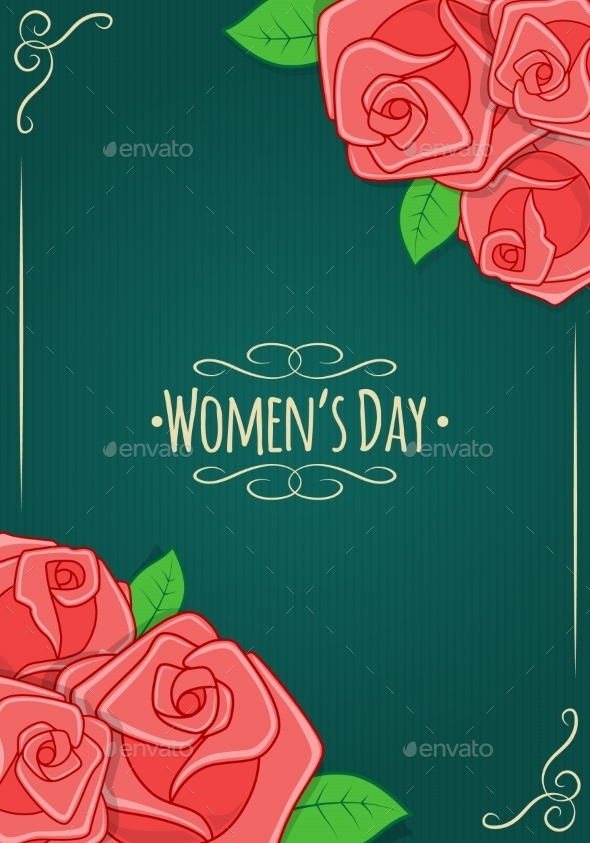 GraphicRiver Eight 8 of March Women s Day Background 10414521