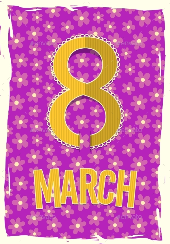 Eight 8 of March Women s Day Background