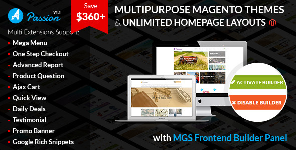 Passion – Multipurpose Magento Theme - Magento eCommerce