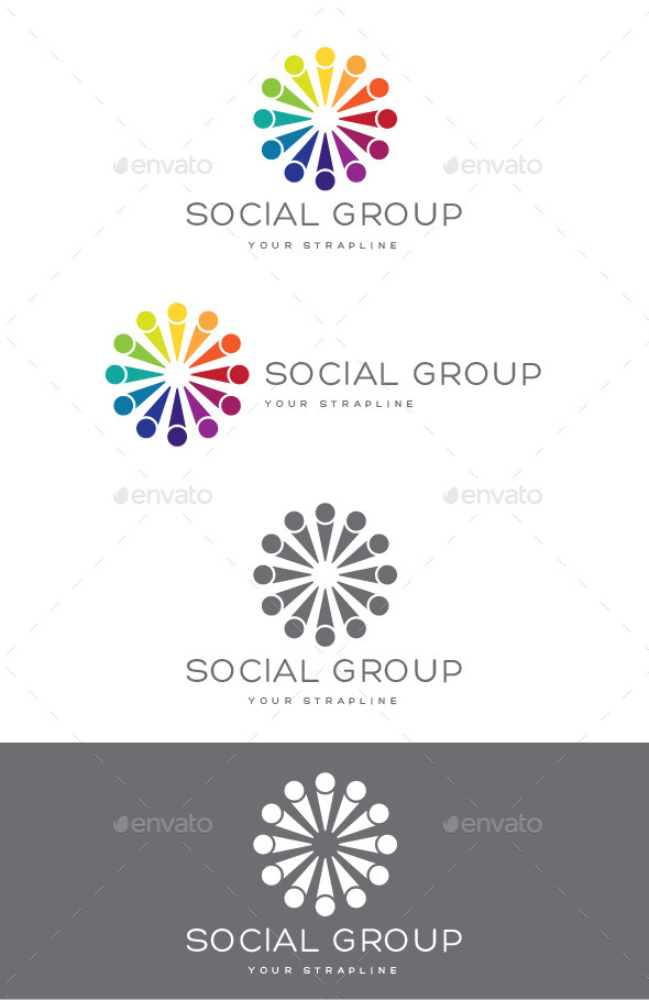 GraphicRiver Social Group Logo 10414666