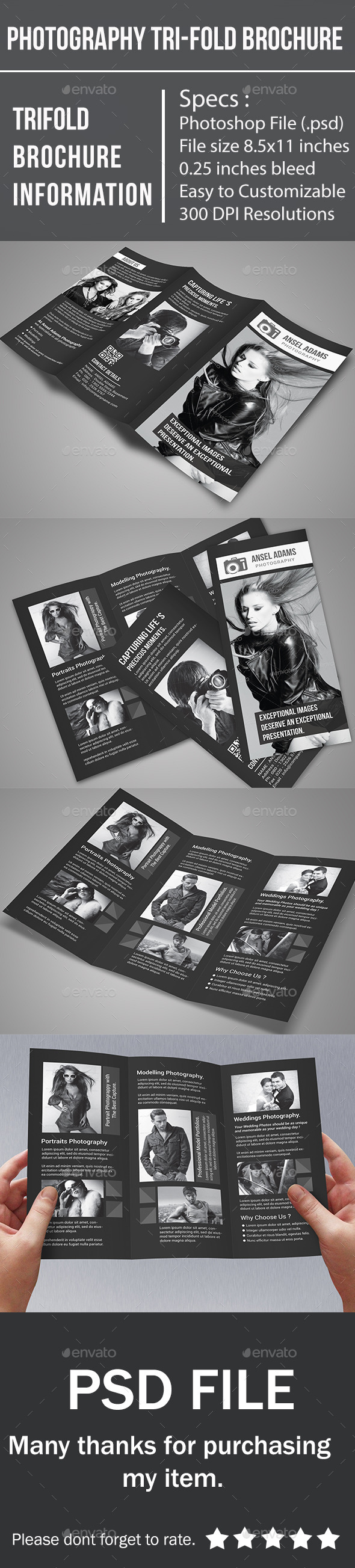 GraphicRiver Photography Tri-Fold Brochure 10414669