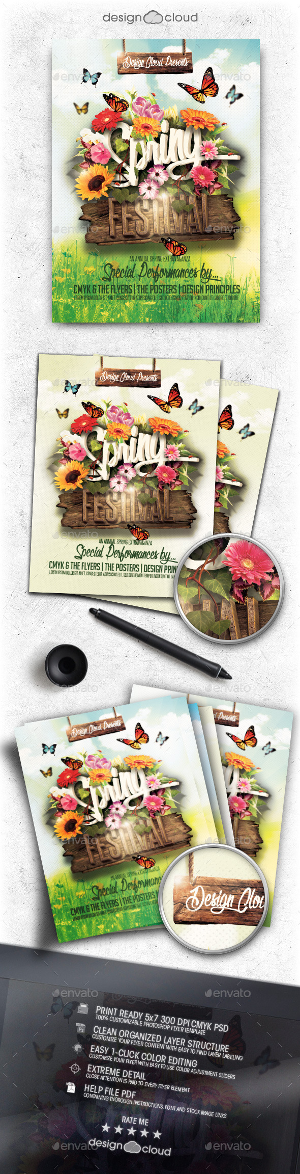 GraphicRiver Spring Festival Flyer Template 10414877