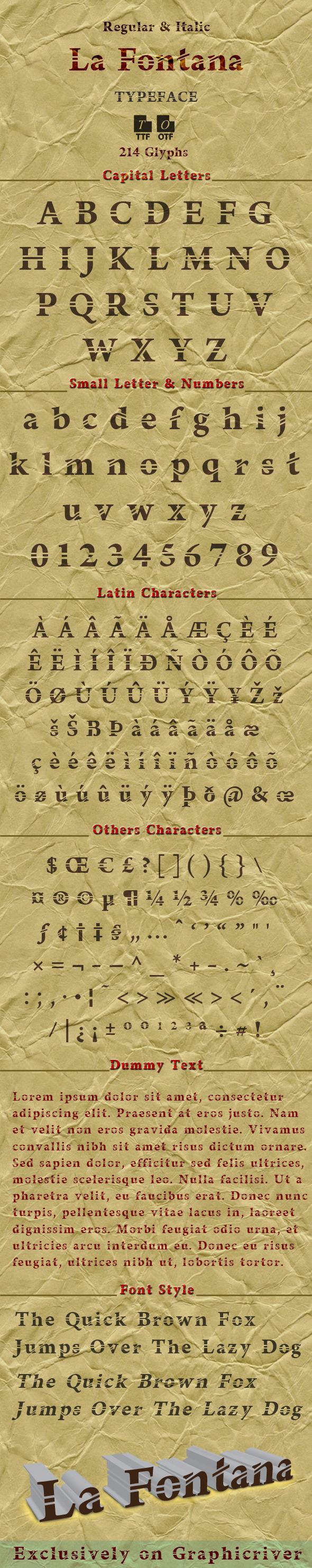 GraphicRiver La Fontana typeface 10415146