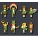 Leprechauns and Gnome Characters Set - GraphicRiver Item for Sale