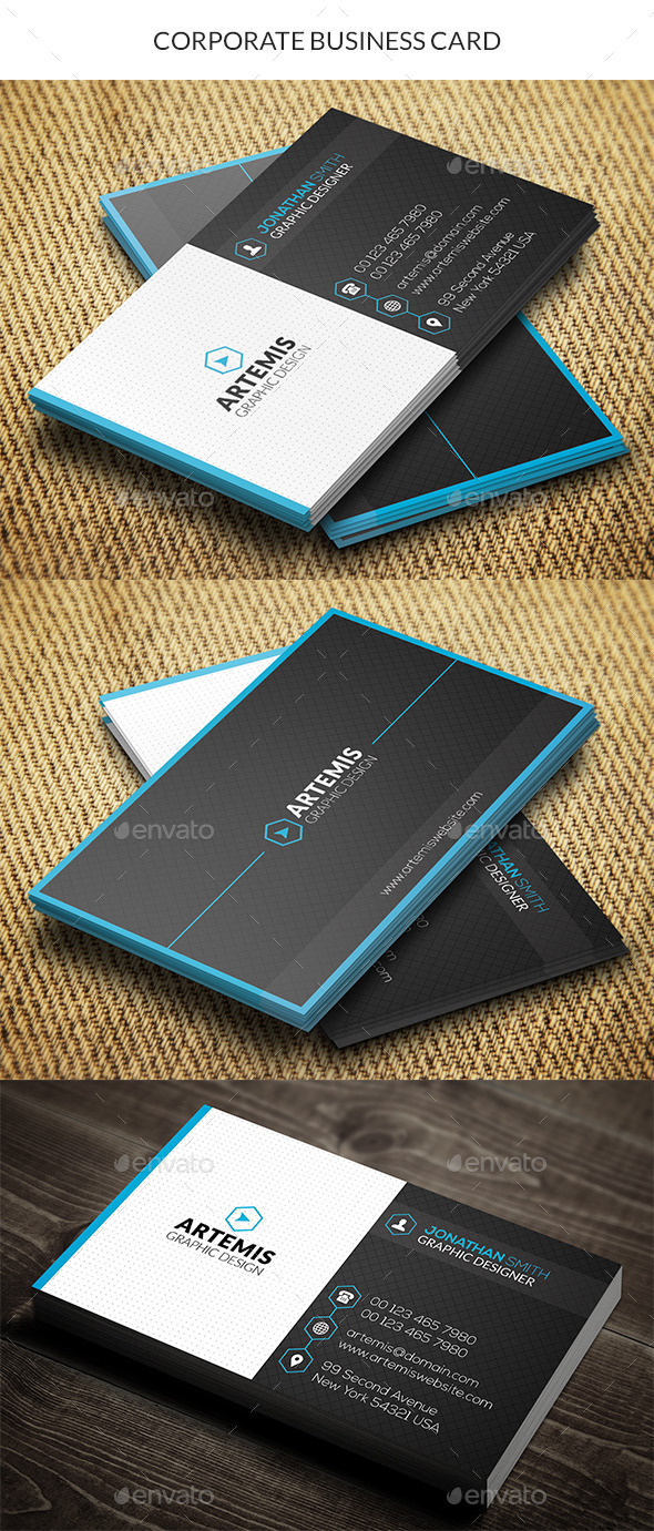 GraphicRiver Corporate Business Card 10415182