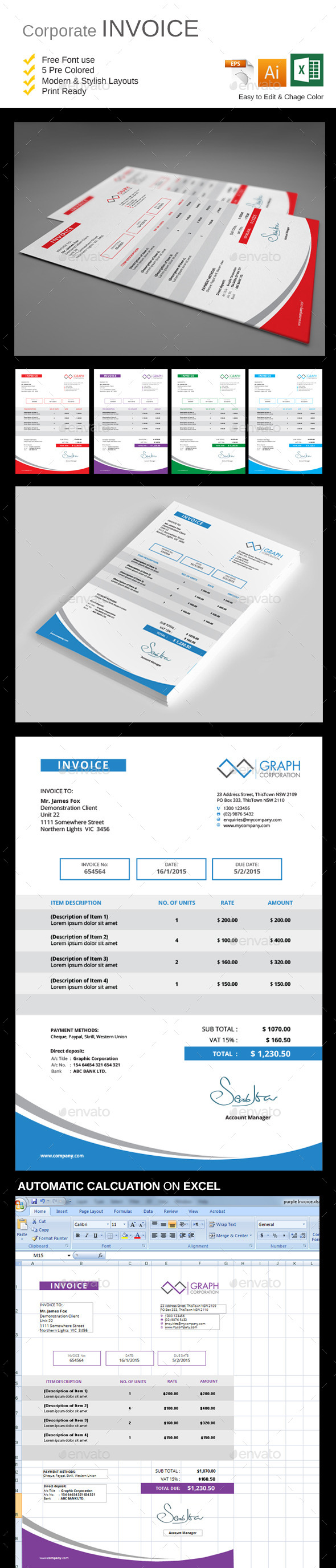 GraphicRiver Invoice 10415340