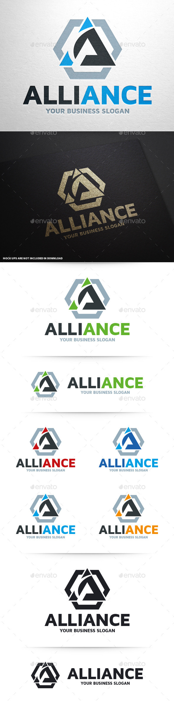 GraphicRiver Alliance Letter A Logo 10415690
