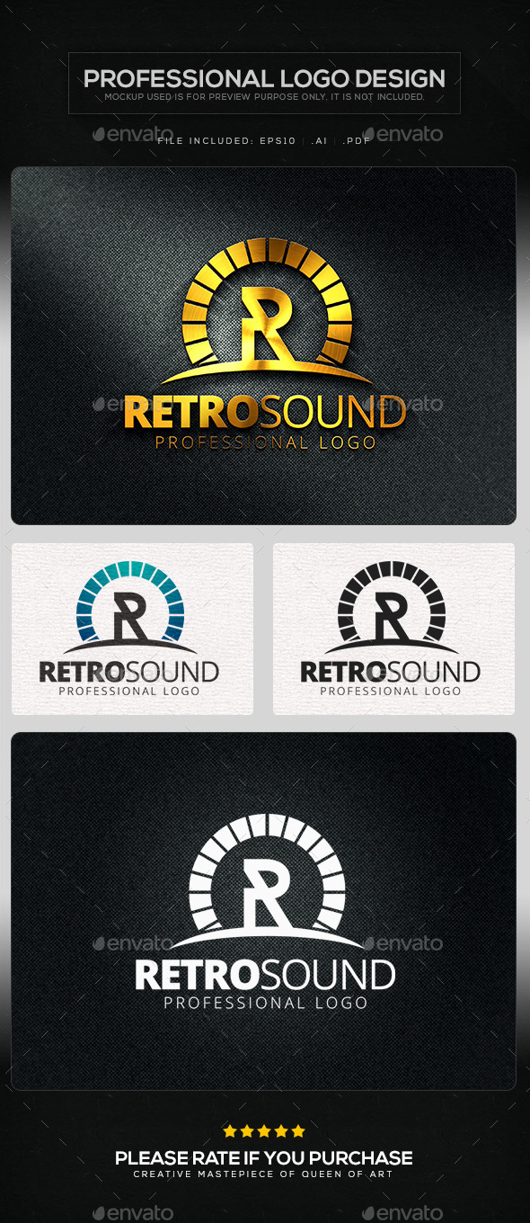 GraphicRiver Retro Sound Logo Template 10415706
