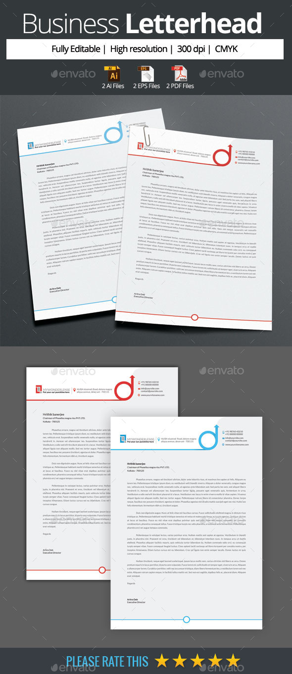 GraphicRiver Corporate Business Letterhead 10415752