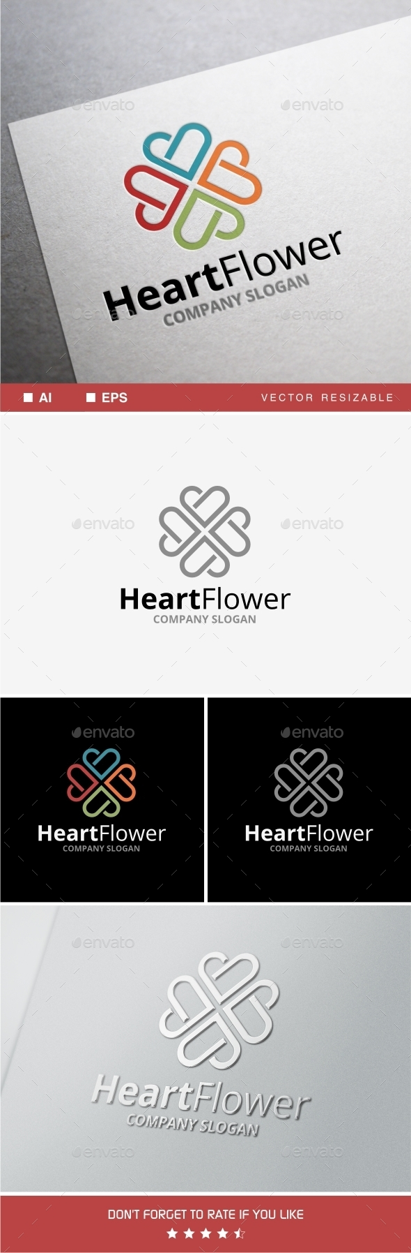 GraphicRiver Heart Flower 10415896