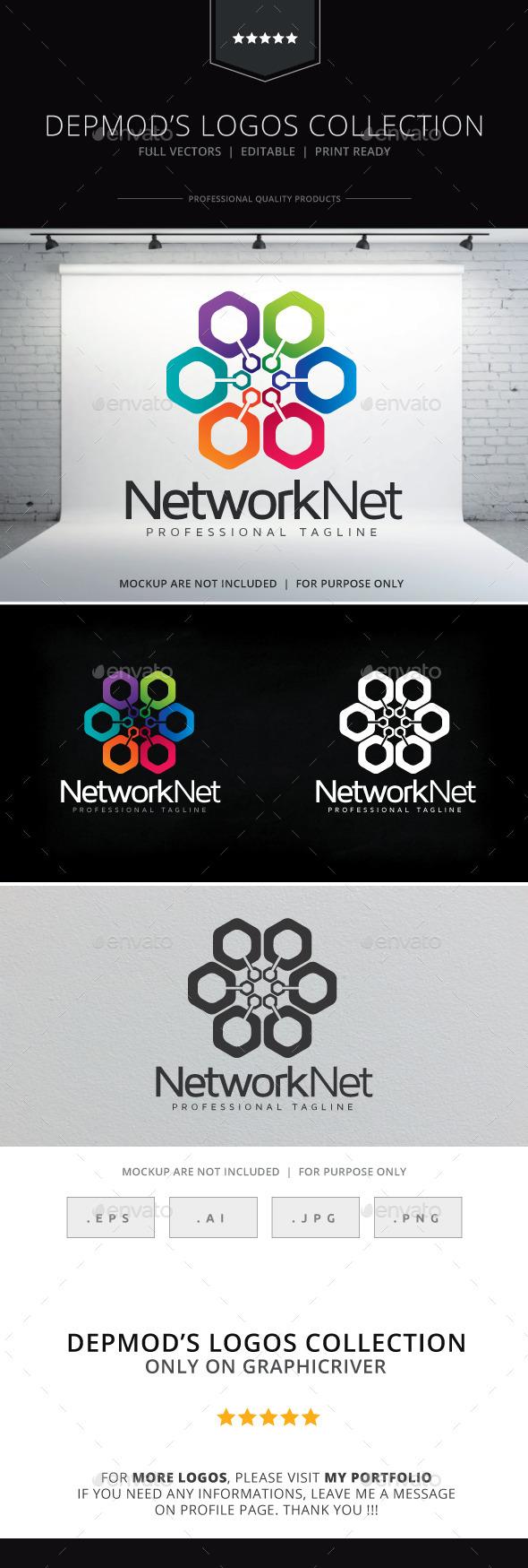 GraphicRiver Network Net Logo 10415910