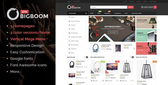 Bigboom - MultiStore Responsive Magento Themes