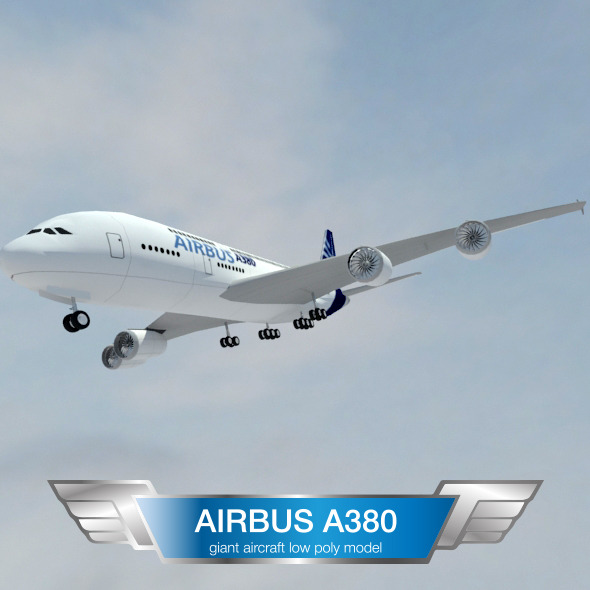 A380 Giant aircraft - 3DOcean Item for Sale