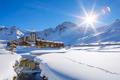 Tignes village with sun - PhotoDune Item for Sale
