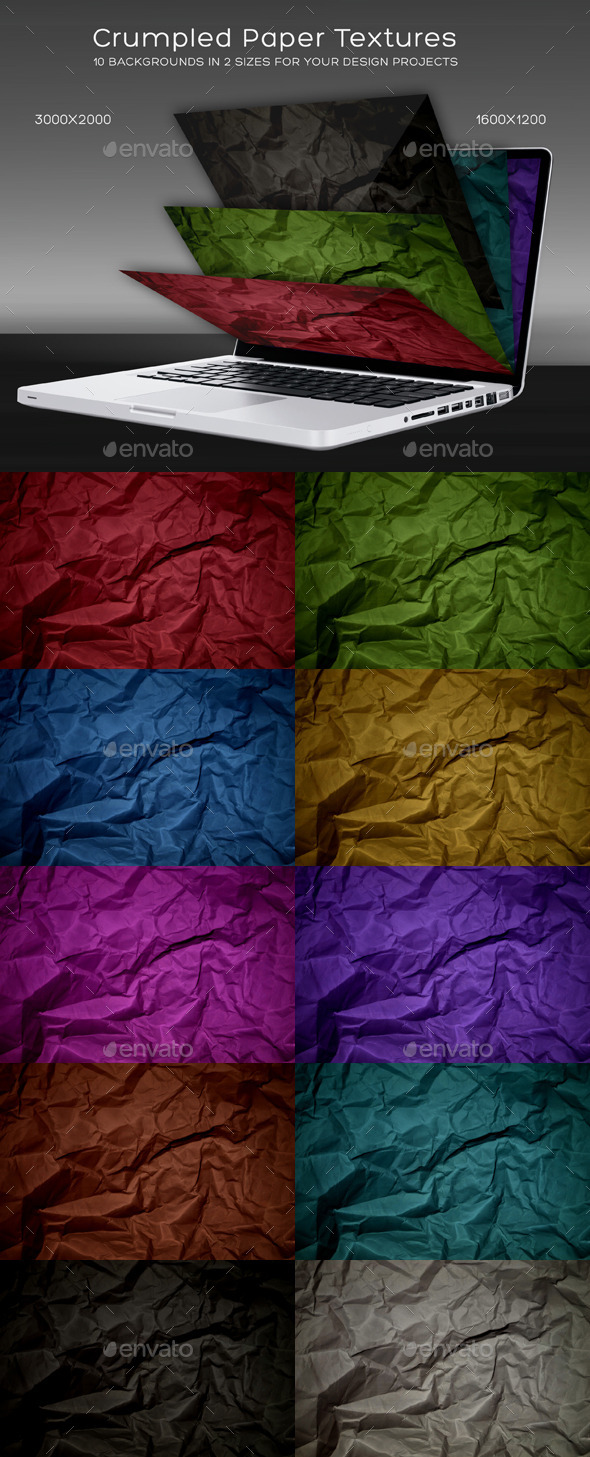 GraphicRiver Crumpled Paper Textures 10416088