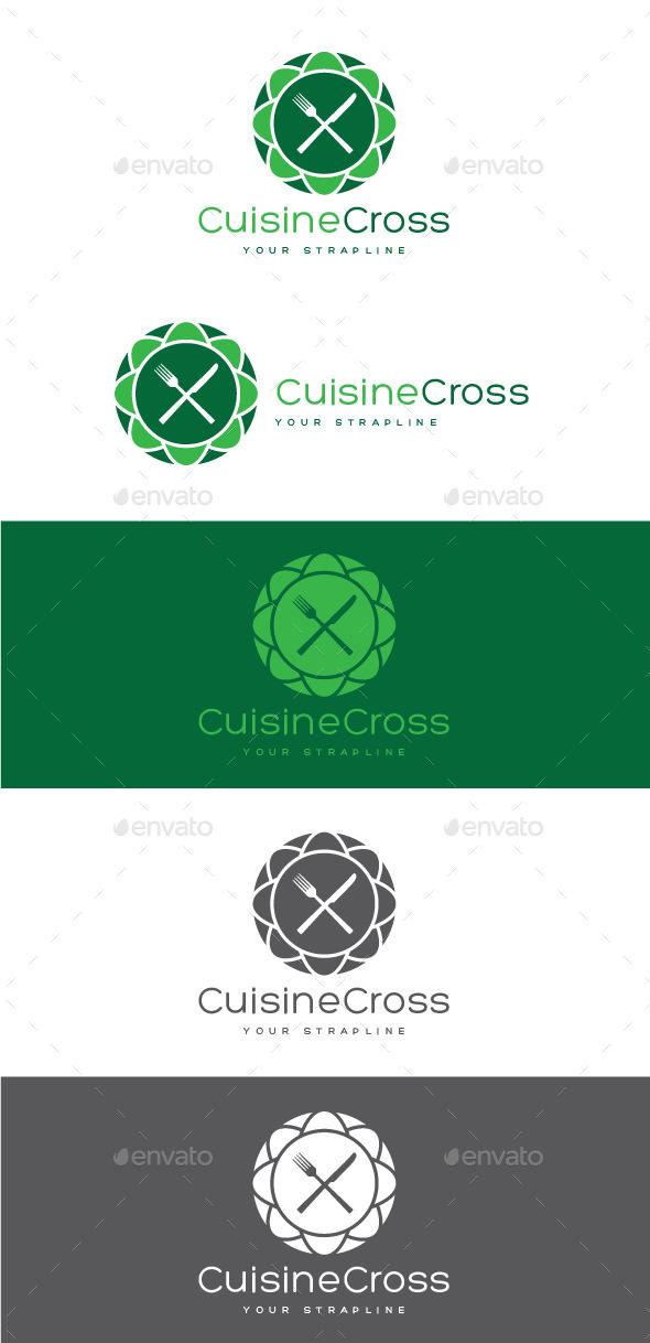 Cuisine Cross Logo