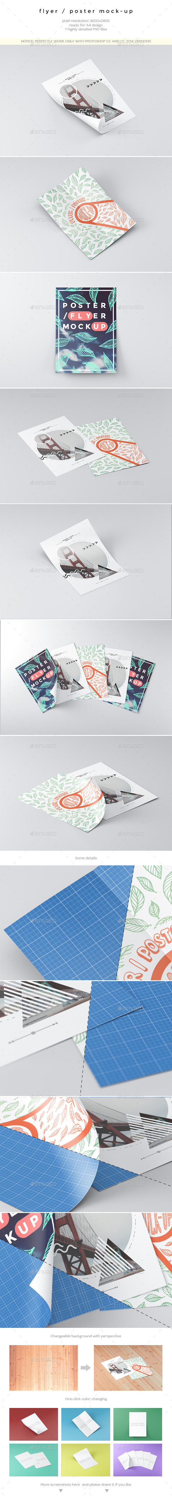 GraphicRiver Flyer Poster Mock-Up 10365956