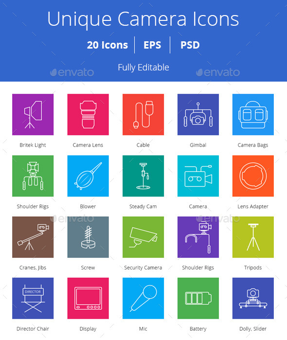 GraphicRiver Camera Icons 10416207