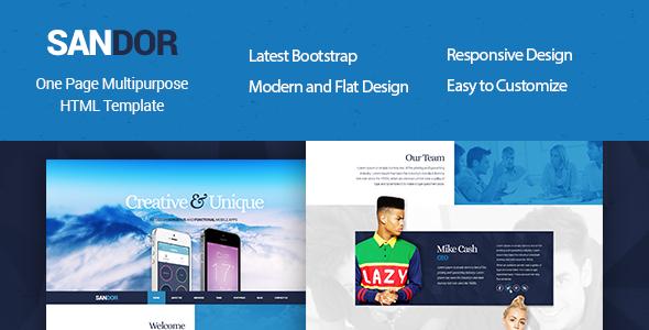 ThemeForest SANDOR Creative HTML Multipurpose Template 10416221