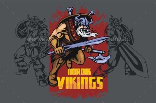 GraphicRiver Viking Warriors 10416248