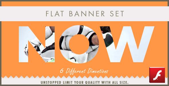Flat Modern Animation Banner Set