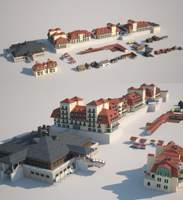 3DOcean Houses 10416666