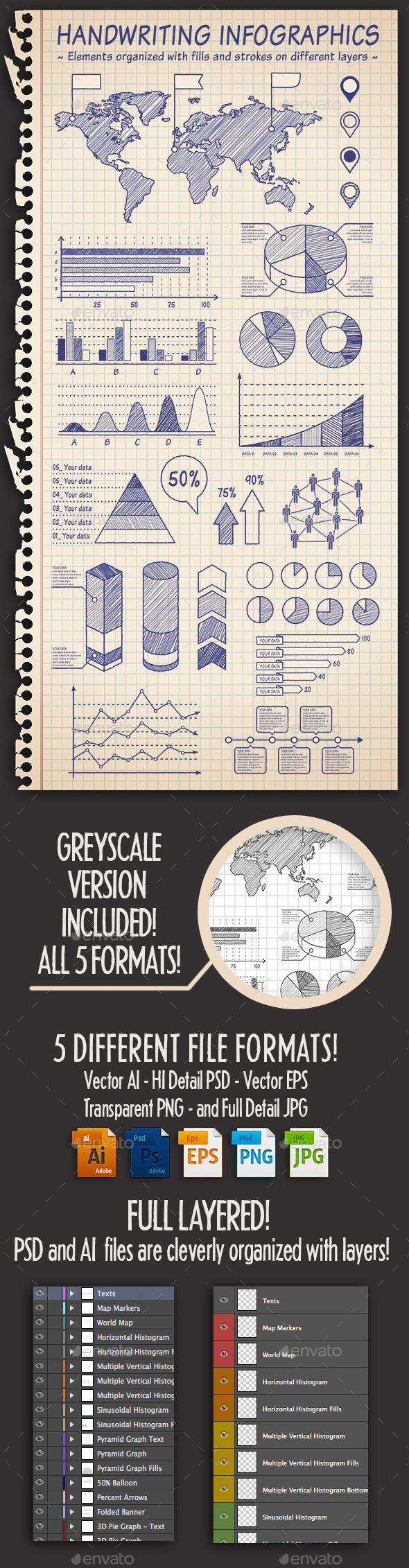Hand Drawn Sketch Infographics