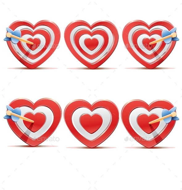 GraphicRiver Collection of Aim Hearts 10417289