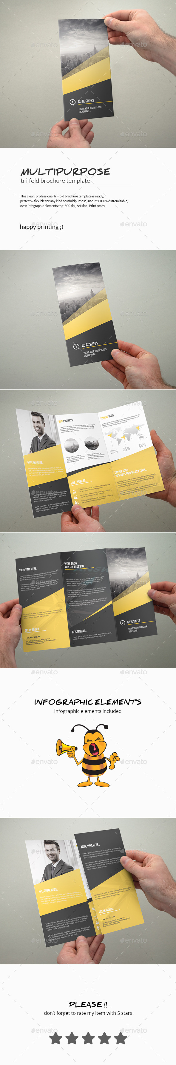 GraphicRiver Tri-Fold Brochure Multipurpose 10417422