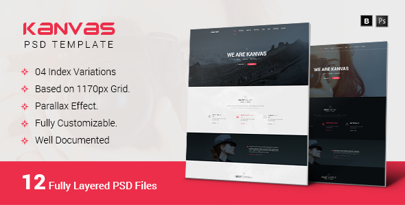ThemeForest Kanvas Multipurpose Responsive PSD Template 10417432