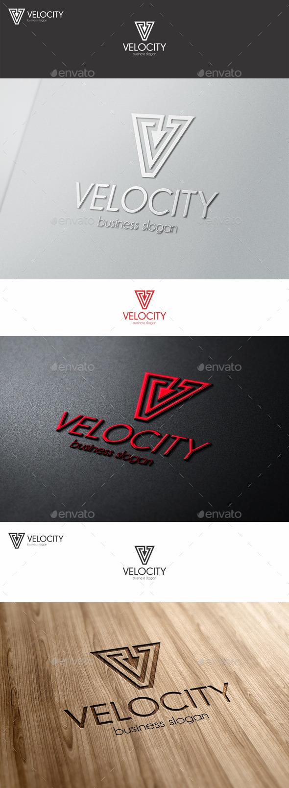 GraphicRiver Velocity Vector V Letter Logo 10417484