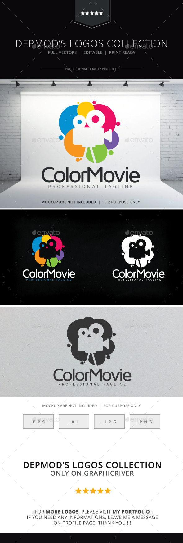 GraphicRiver Color Movie Logo 10417610