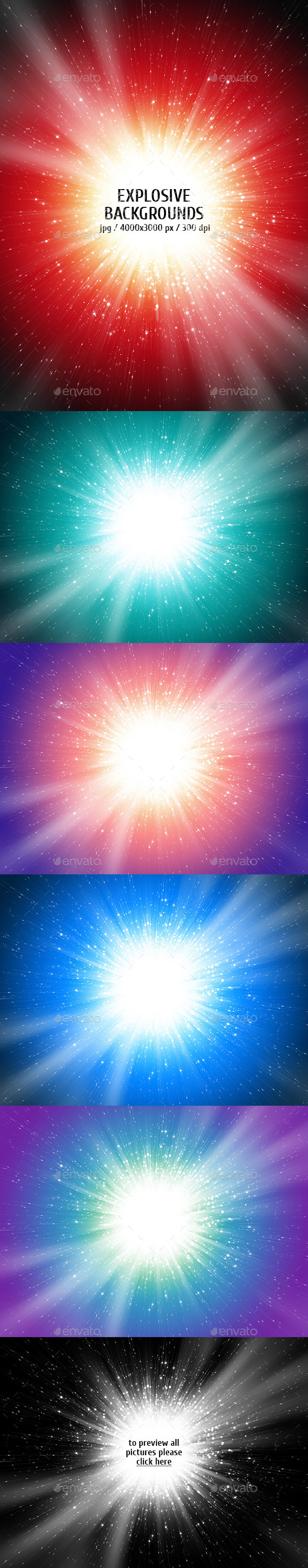 GraphicRiver Explosive Backgrounds 10417790