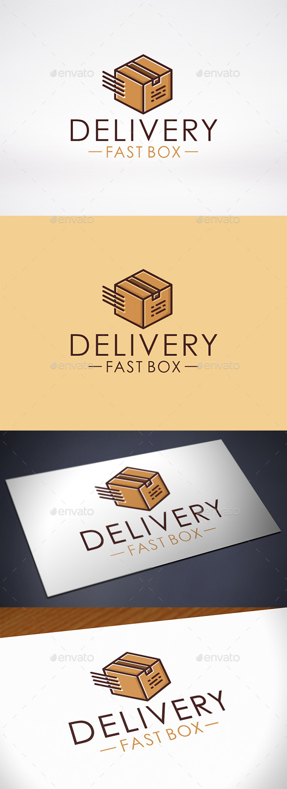 GraphicRiver Fast Box Delivery Logo Template 10417856