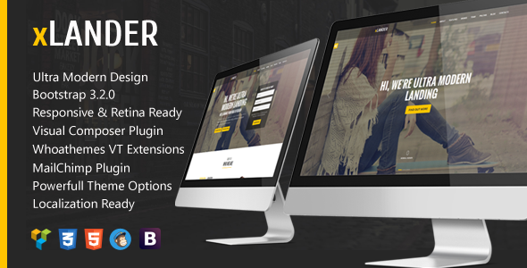 ThemeForest xLander One Page Bootstrap Responsive WordPress 10254806