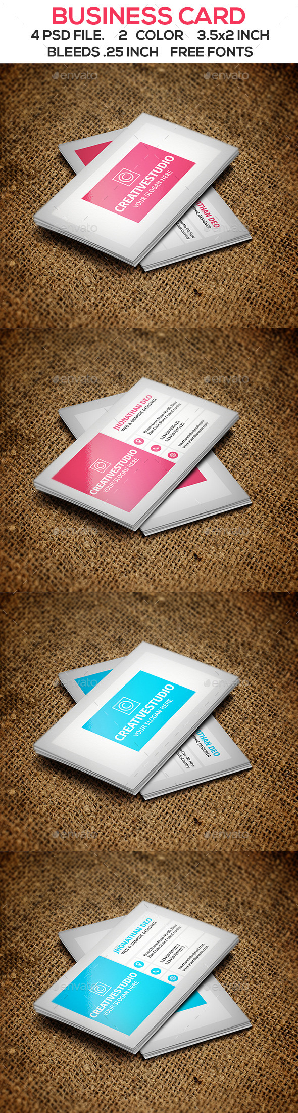 GraphicRiver Modern Business Card V2 10418086