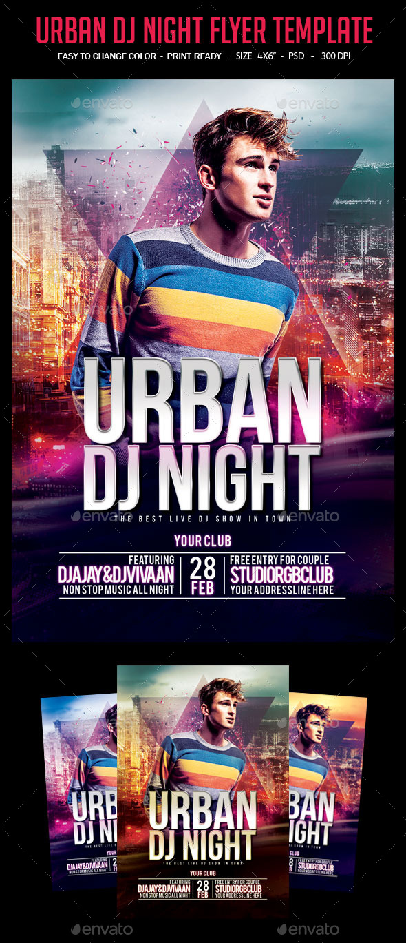 Urban DJ Night Flyer Template