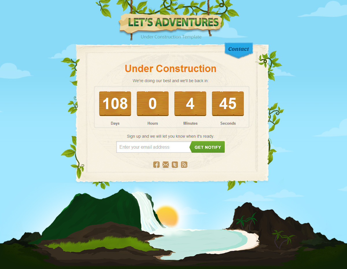Let's Adventures HTML/CSS template