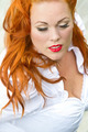 Red hair girl in pin-up style portrait - PhotoDune Item for Sale